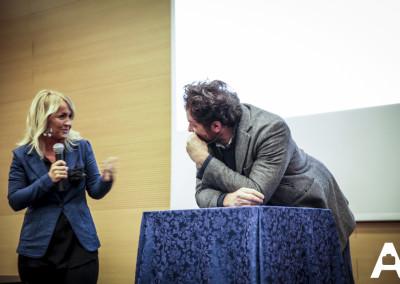 Barbara Zanussi e Andrea Sales relatore per Agenti treviso a improntagente